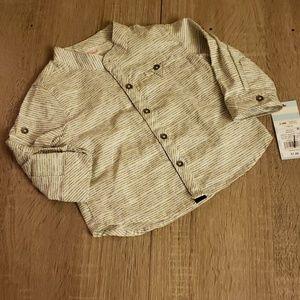 **5 for $15** Baby Boy Striped Dress Shirt